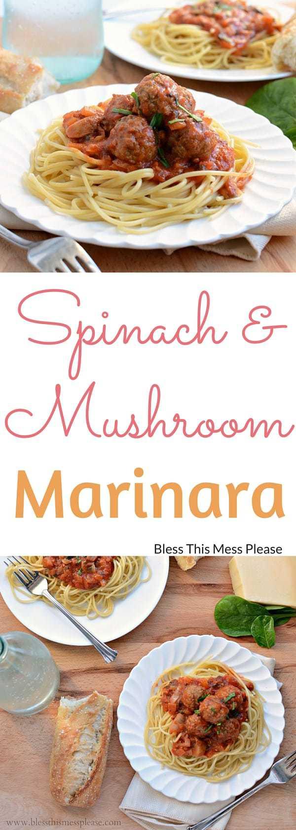 Spinach and Mushroom Marinara