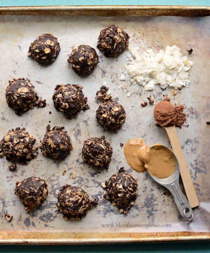 Healthier Coconut No Bake Cookies