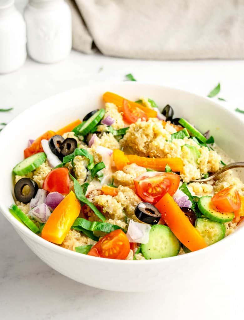 bowl of quinoa salad