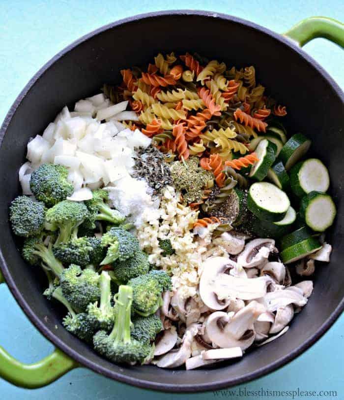 One Pot Dinner - One Pot Pasta Primavera