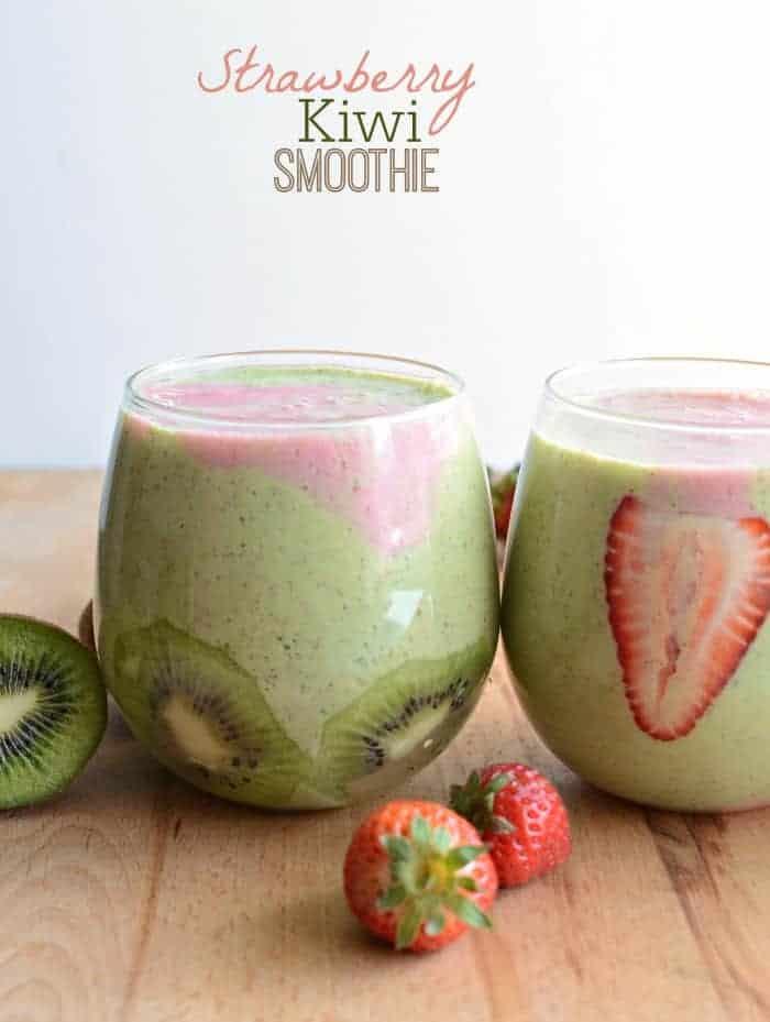 Healthy Strawberry Kiwi Smoothie recipe
