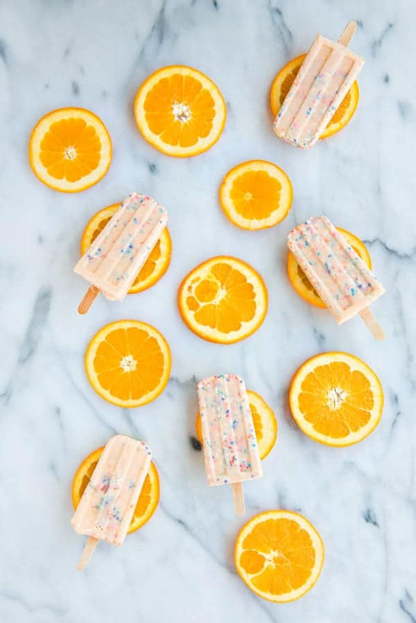 Image of Funfetti Creamsicle Popsicles