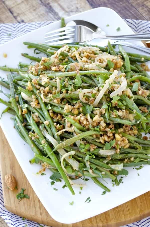 Image of Fresh Green Beans with Almonds