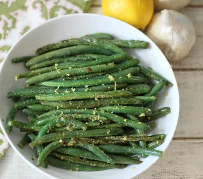Image of Lemon and Garlic Green Beans