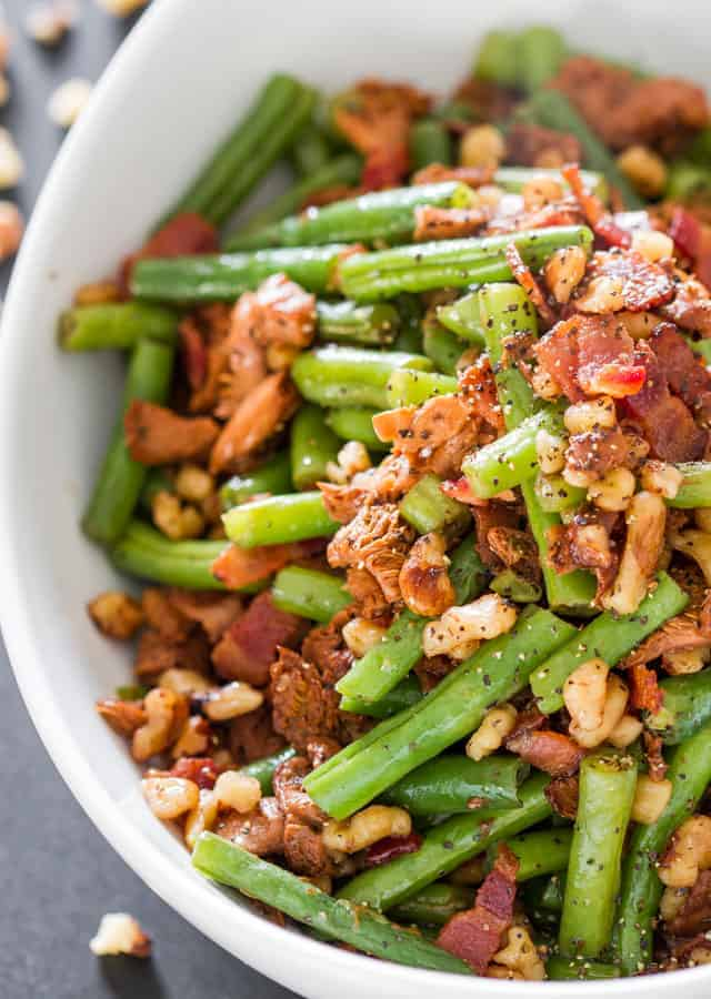 Image of Green Beans and Chanterelle Mushrooms