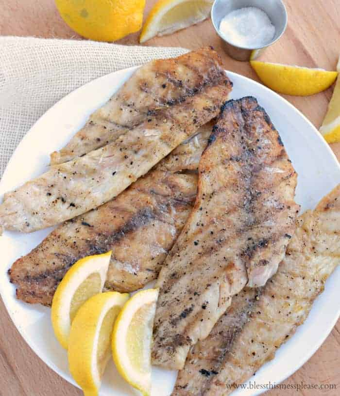 Ever wonder how to get perfectly flaky grilled fish fillets on the grill? This recipe is the simplest and best way to grill just about any firm white fish!