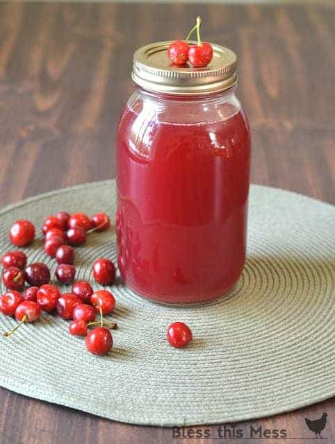 home canned cherry juice