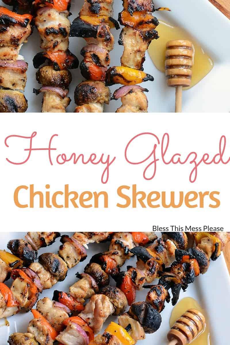 Honey Glazed Chicken Skewers