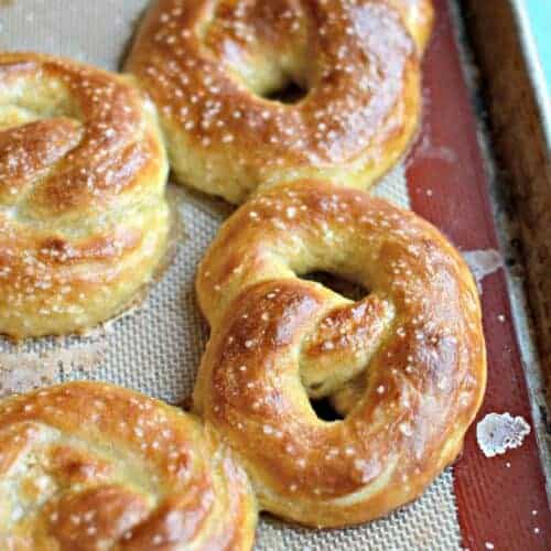 Hot Buttered Pretzels from King Arthur Flour