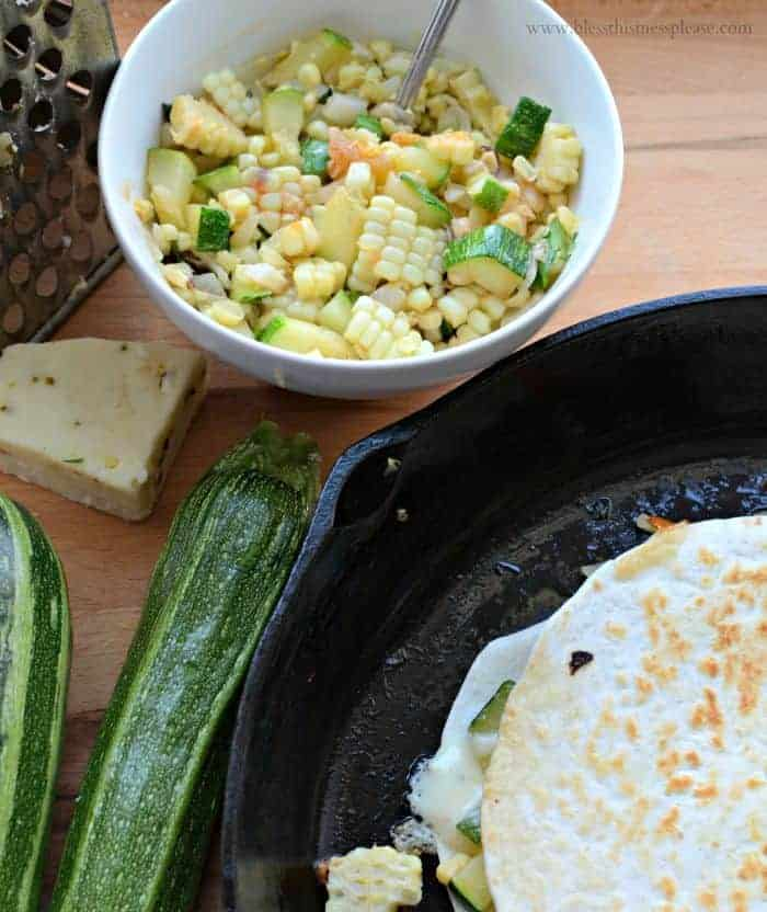 Zucchini and Sweet Corn Quesadillas easy meatleas 15 minute meal!