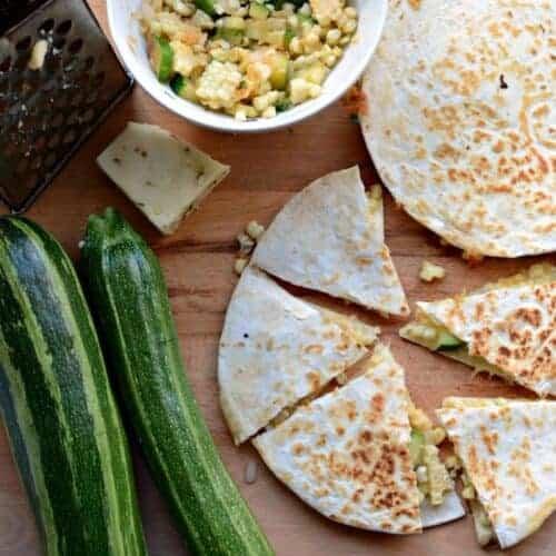 Zucchini and Sweet Corn Quesadillas