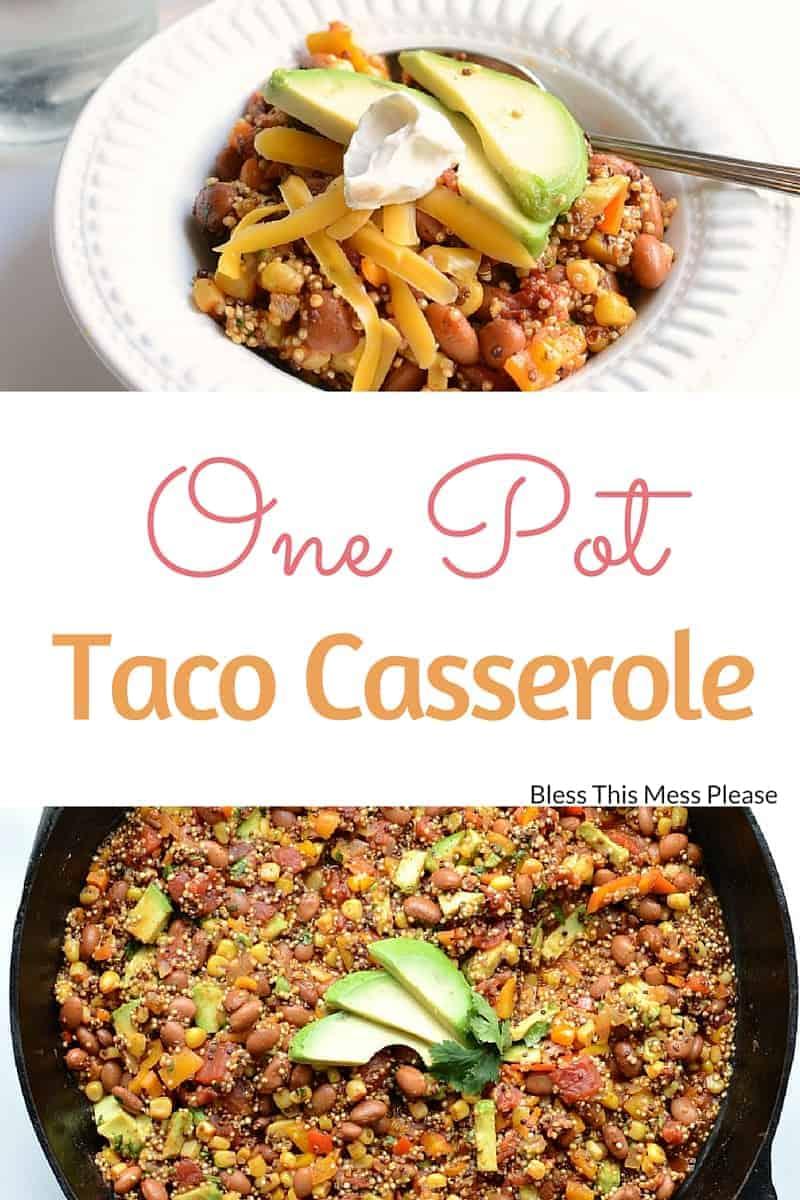 One Pot Taco Casserole