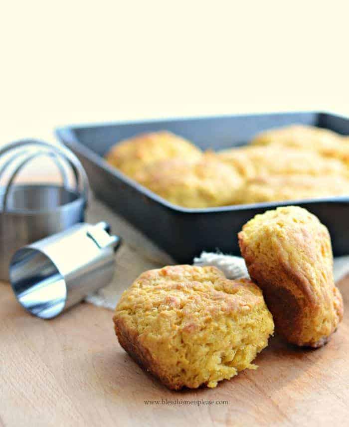 Pumpkin Skillet Biscuits because pumpkin!!