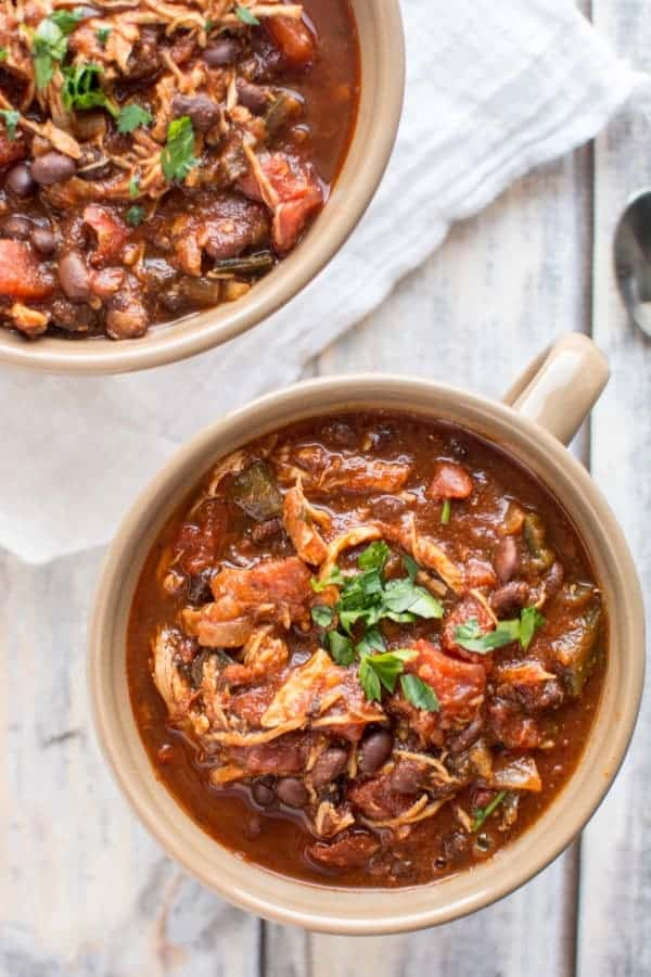 Crock-Pot Roasted Tomato and Ancho Chicken Chili from Crockpot Gourmet