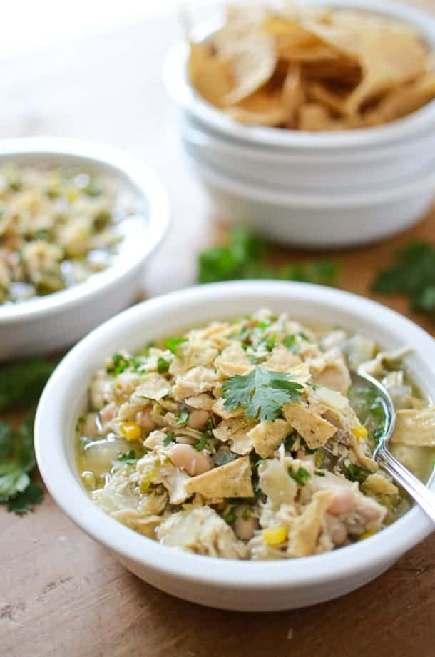Slow Cooker White Chicken Chili from Simply Whisked