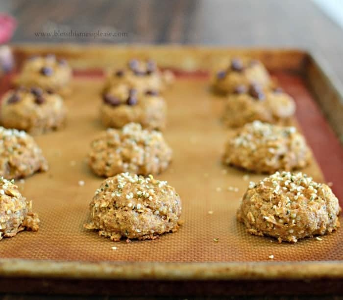Healthy Breakfast Cookies protein and fiber packed but only 65 calories!