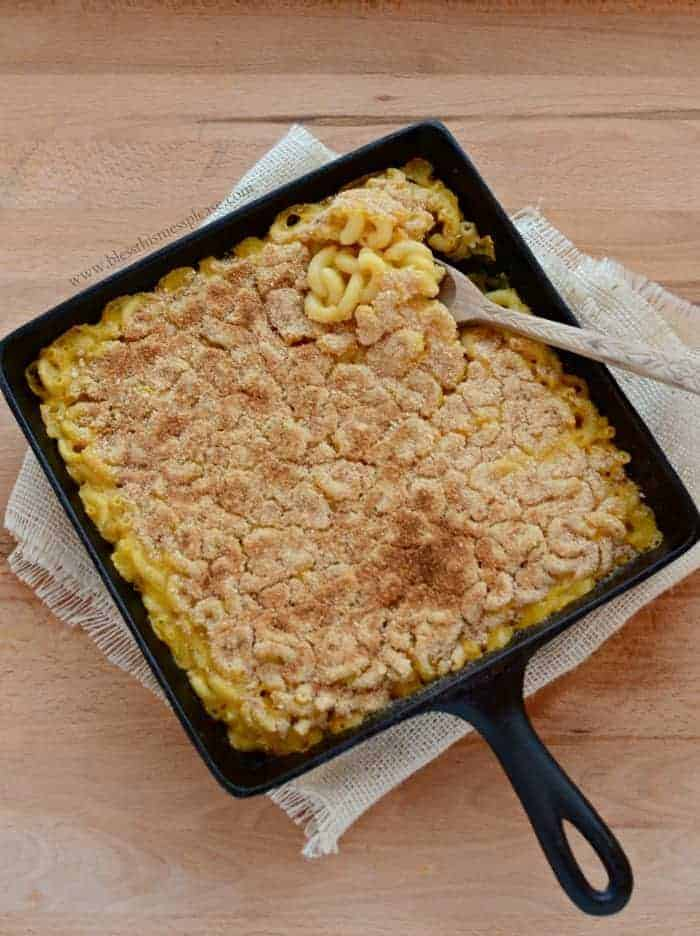 Image of Meatless Monday Baked Macaroni From Above