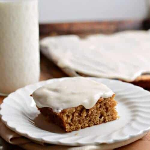 Pumpkin Sheet Cake with a Simple Cream Icing