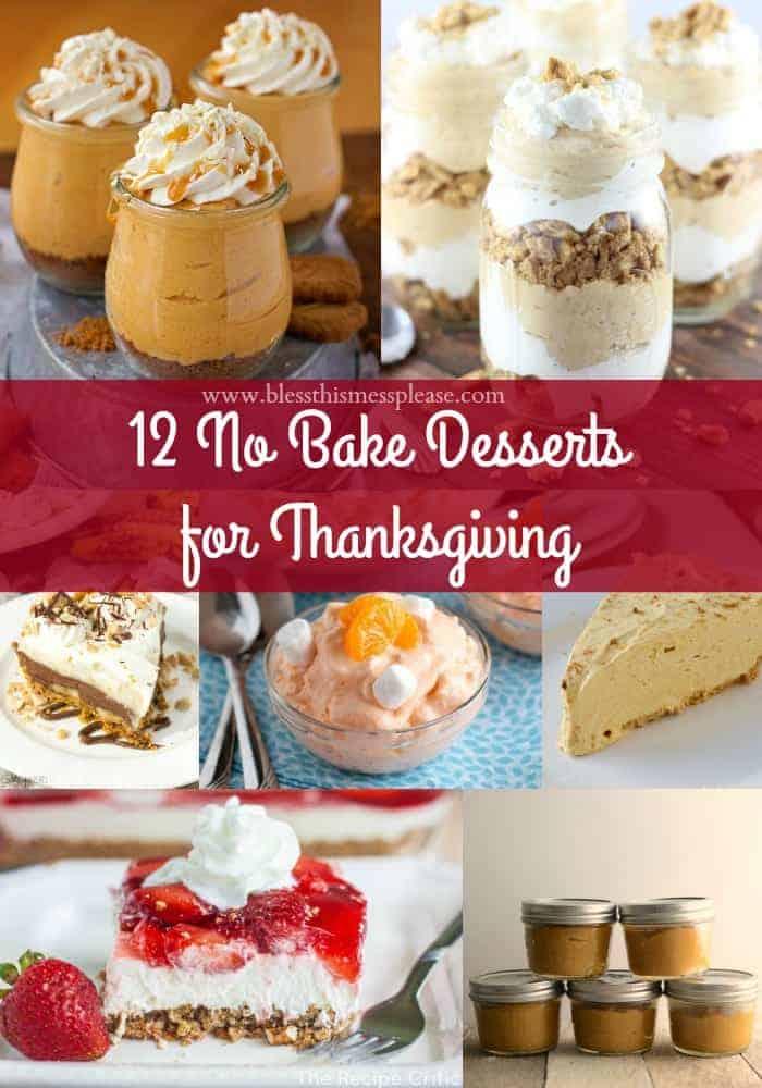 12 No Bake Dessert Recipes for Thanksgiving
