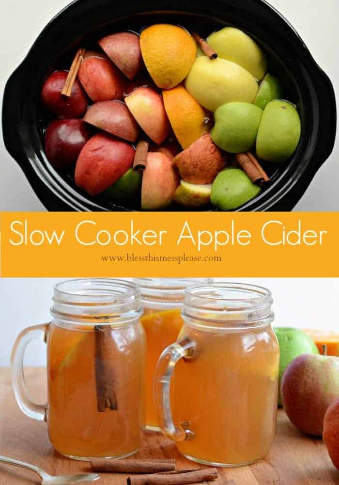 Slow Cooker Apple Cider- made from scratch and perfect for a party!