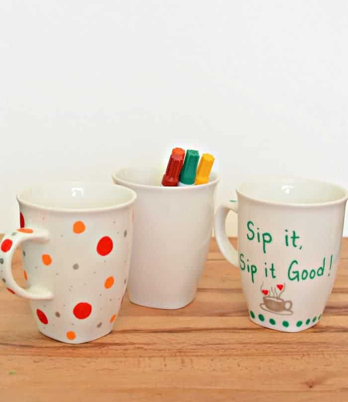 Painted Sharpie Mugs (that won't wash off!)