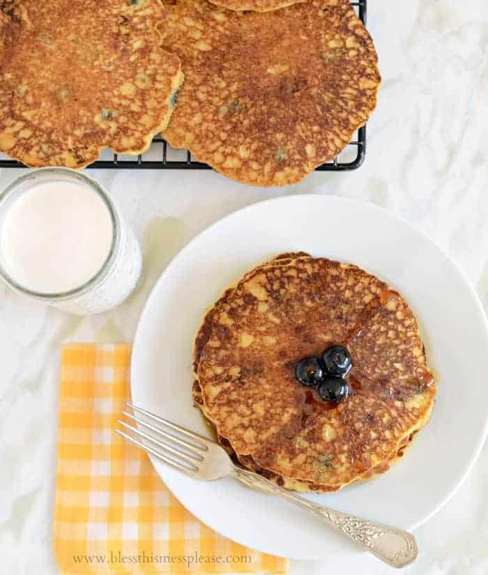 Image of Perfect Blueberry Cornmeal Pancakes