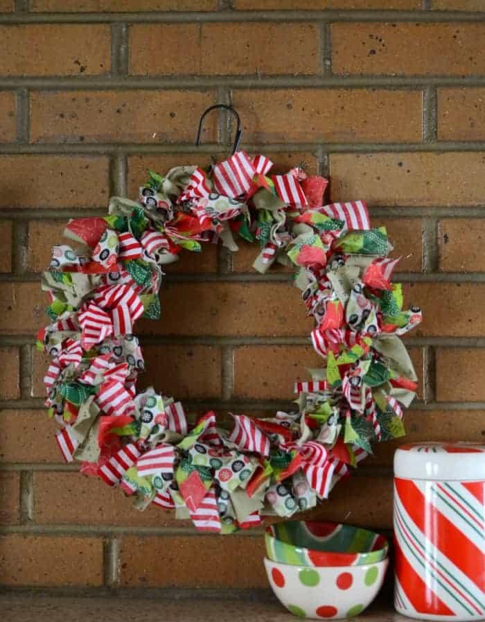 Holiday Rag Wreath