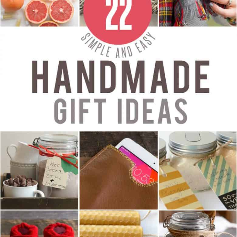 22 Simple Handmade Gifts PLUS a $100 Amazon Gift Card Giveaway!