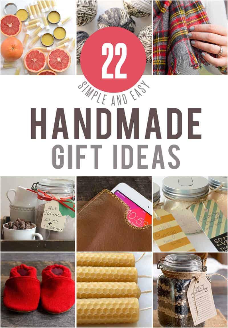 22 Simple Handmade Gifts