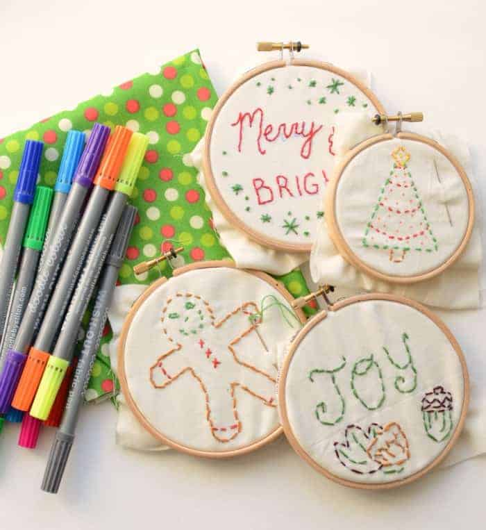 Simple Embroidered Ornaments