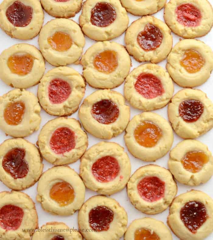 Shortbread Jam Thumbprint Cookies
