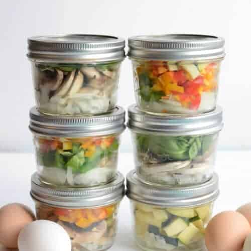 Make Ahead Omelet in a Jar