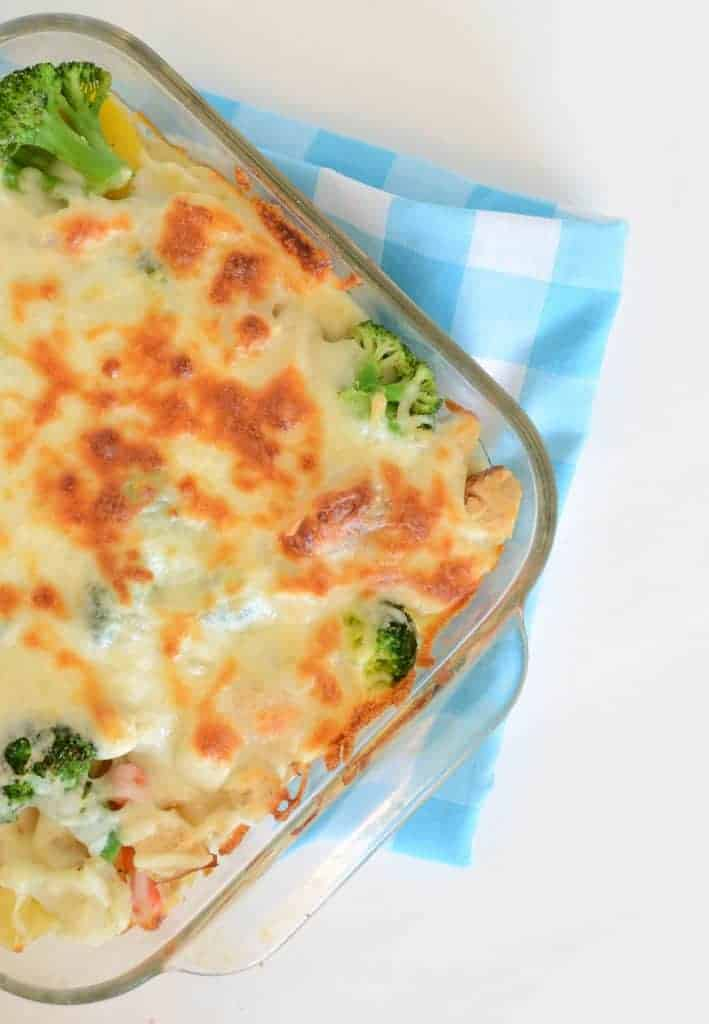 Creamy Chicken and Vegetable Baked Pasta