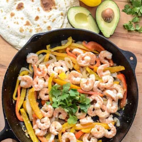 Simple Shrimp Fajitas