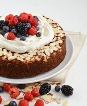 Healthy whole wheat honey Cake is just what the real food lover in your life wants you to make for their birthday. It's light, sweet, and perfect with a little whipped cream!