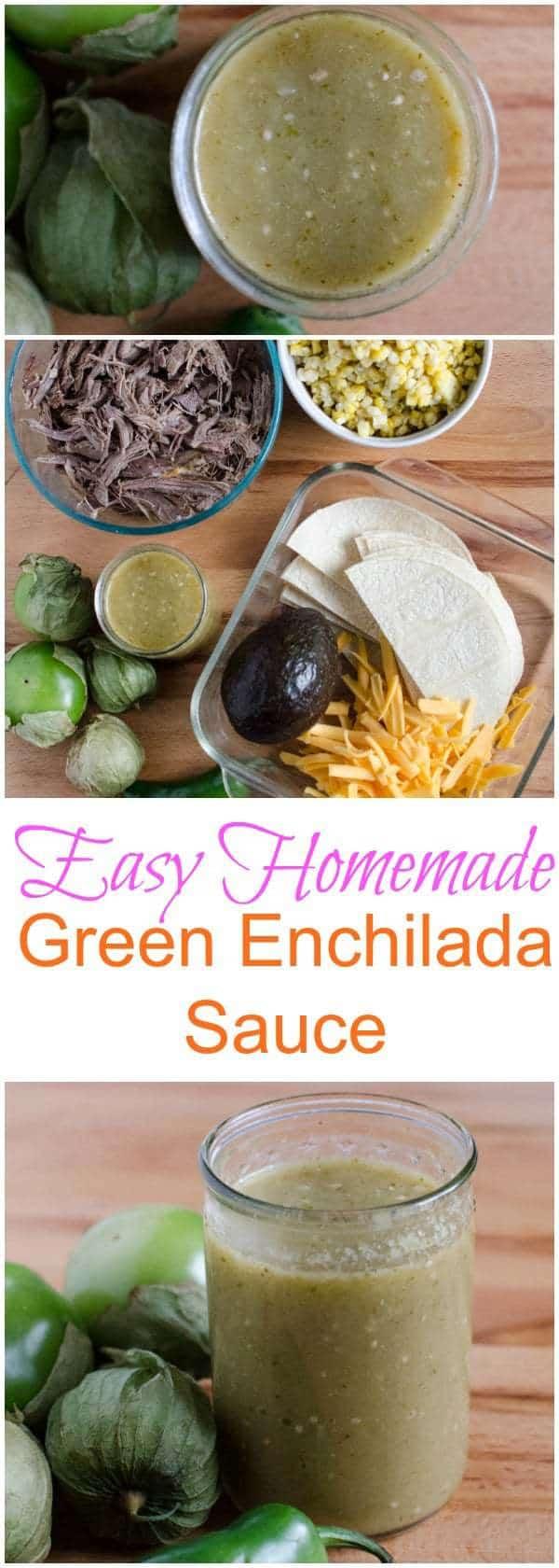 Easy Homemade Green Enchilada Sauce Recipe (made in the blender!)