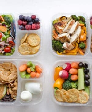 4 healthy adult lunch boxes