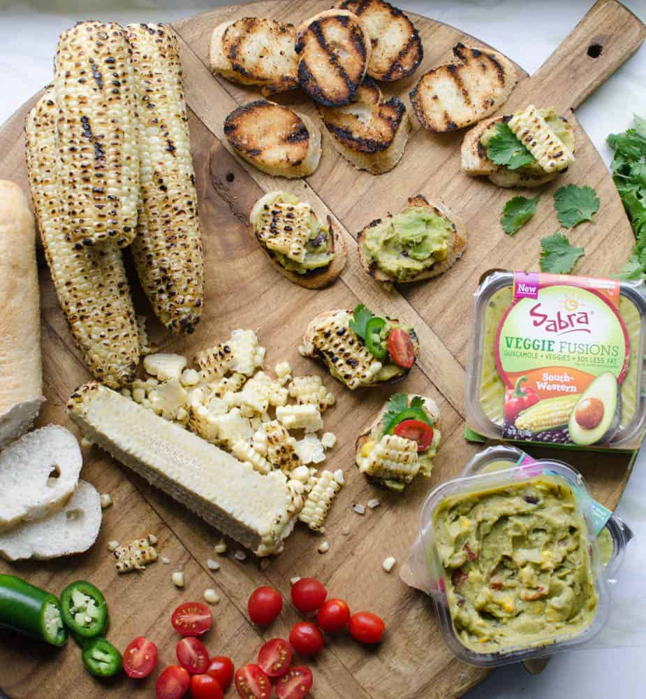 Image of Ingredients for Mexican Guacamole Bruschetta