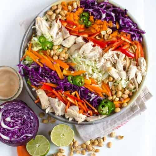 Asian Chicken Salad with Peanut Lime Dressing