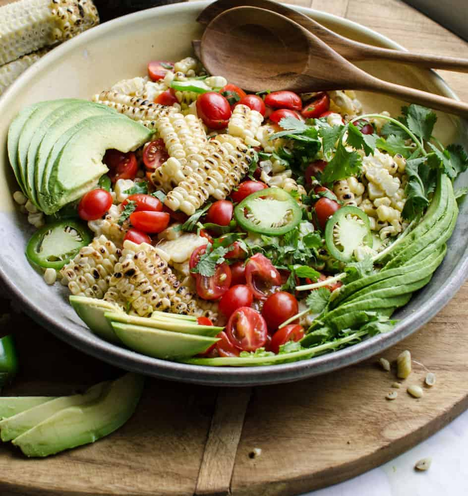 Grilled Corn and Avocado Salad is easy, healthy, party-perfect.