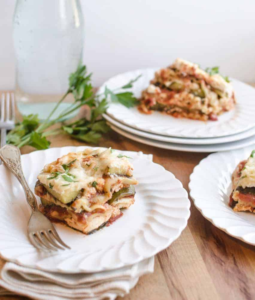 Easy, healthy vegetable lasagna made in the slow cooker. So much to love!