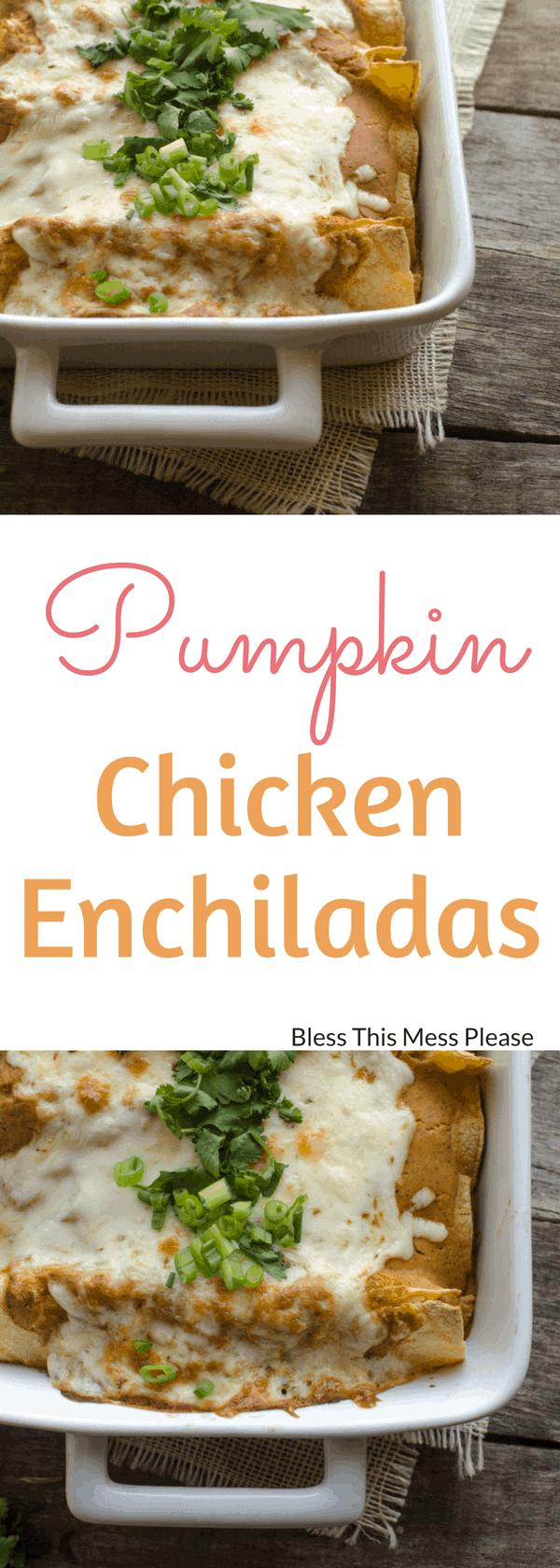 Pumpkin Chicken Enchiladas