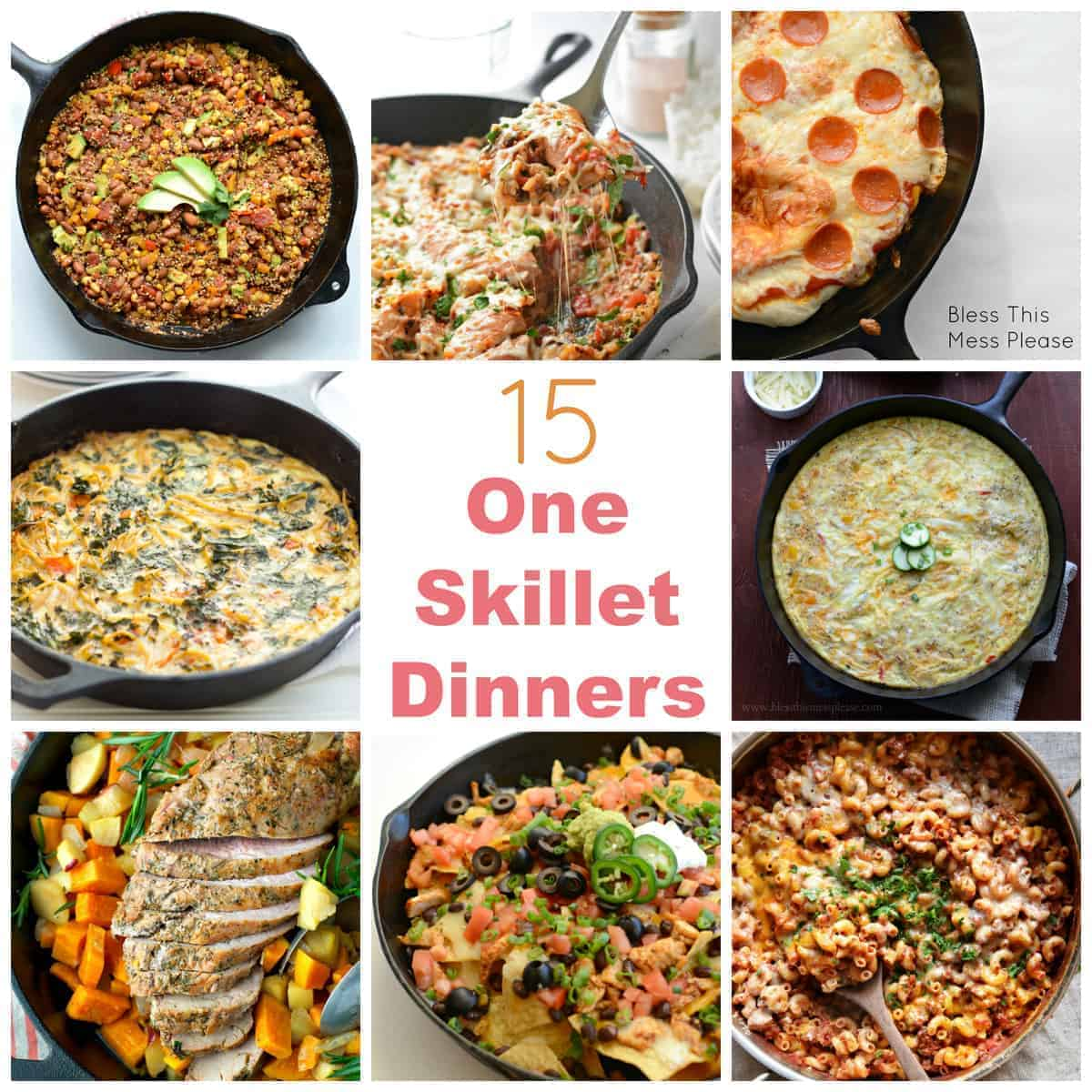 15 One Skillet Dinners