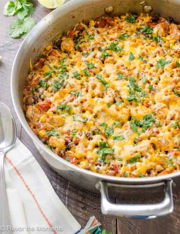 One Pot Dinner - Cheesy Mexican Skillet