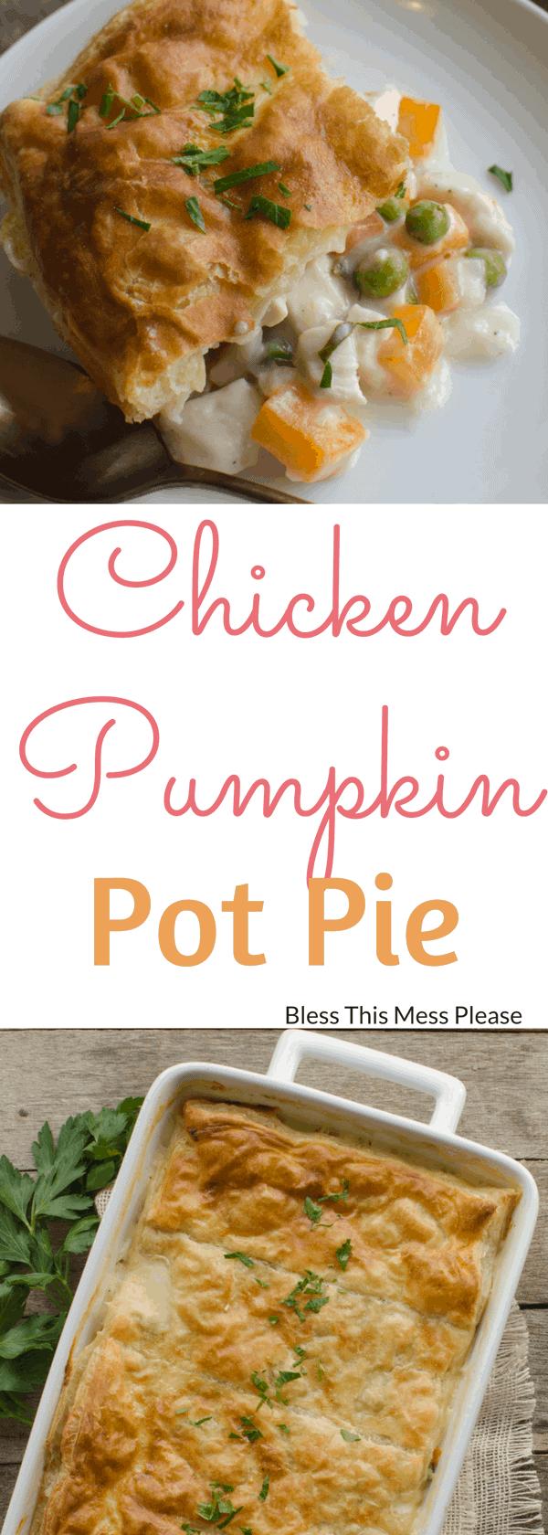 Chicken Pumpkin Pot Pie