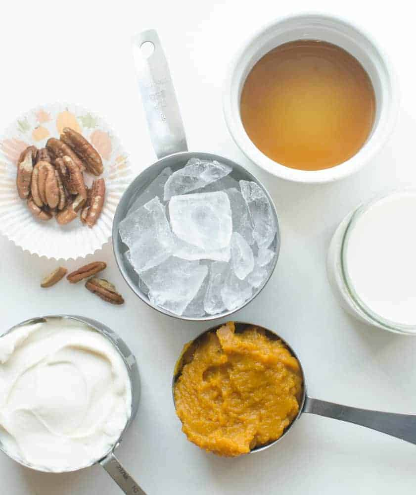 Image of Ingredients for a Healthy Pumpkin Protein Smoothie
