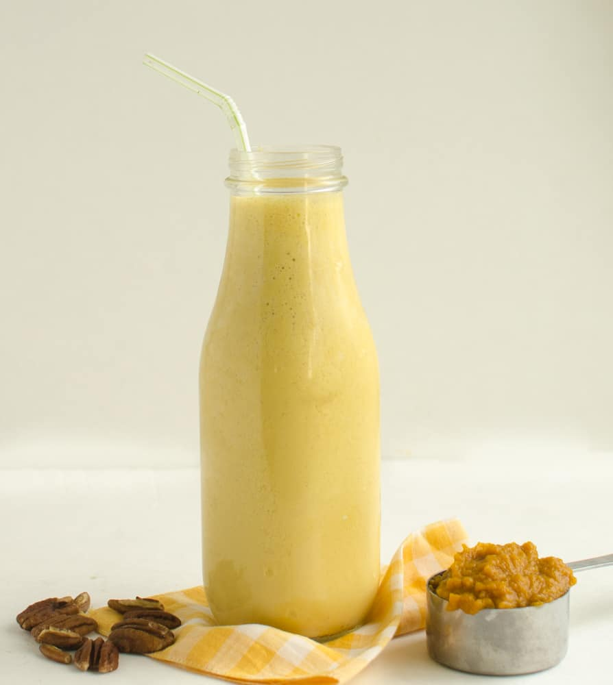 Image of a Healthy Pumpkin Protein Smoothie for One