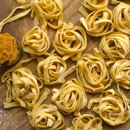 Homemade Pumpkin Noodles