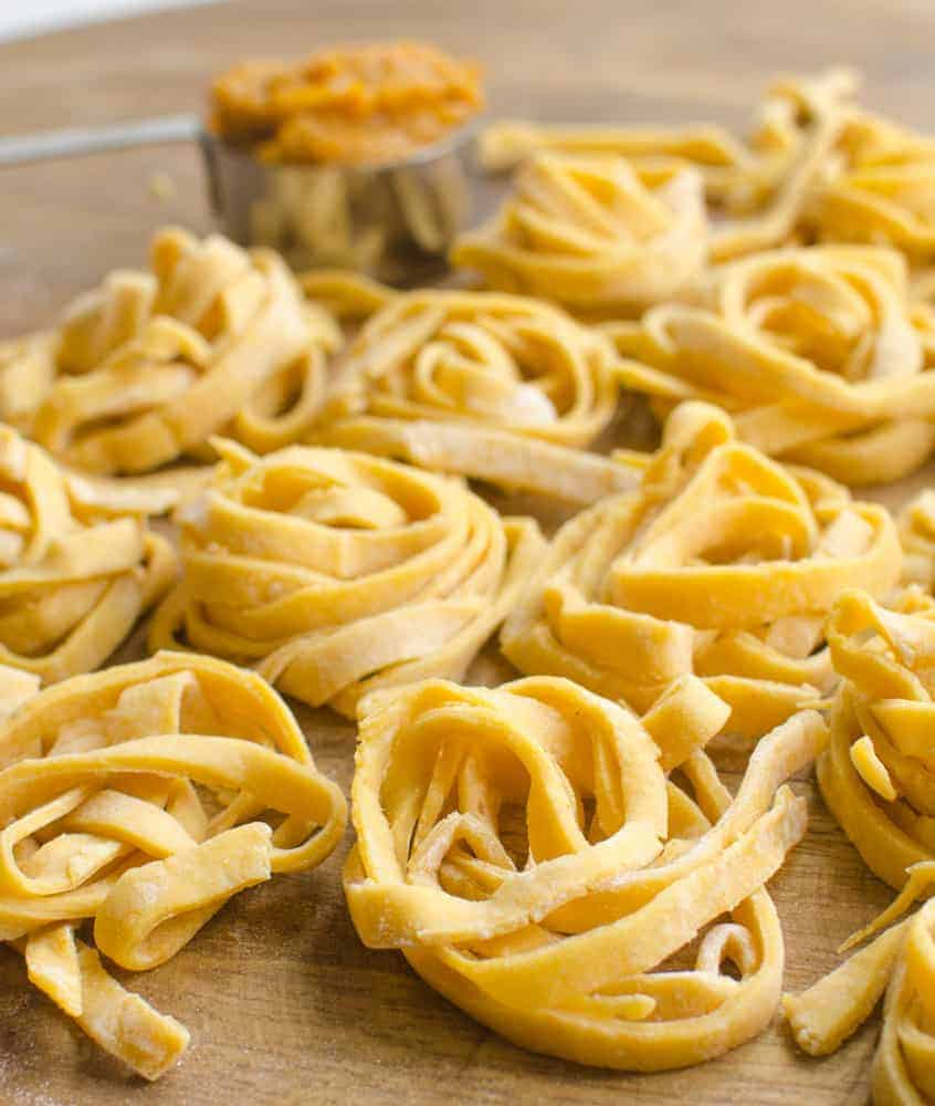 Simple homemade pumpkin noodles that are fun to make and fun to eat.