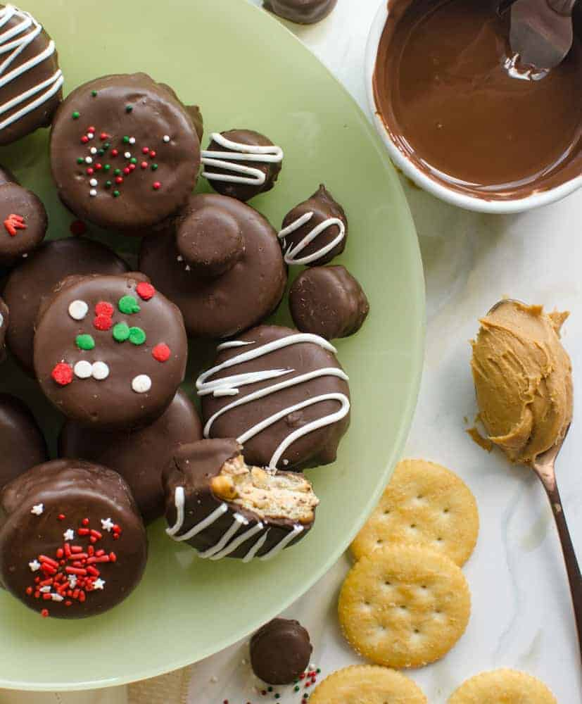 No-Bake Chocolate-Covered Fluffernutter Cookies are simple, delicious treats.